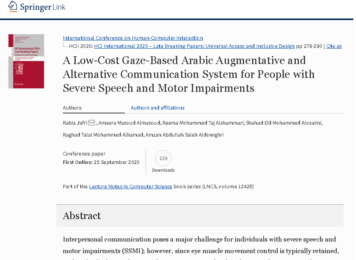 A Low-Cost Gaze-Based Arabic Augmentative and Alternative Communication System for People with Severe Speech and Motor Impairments